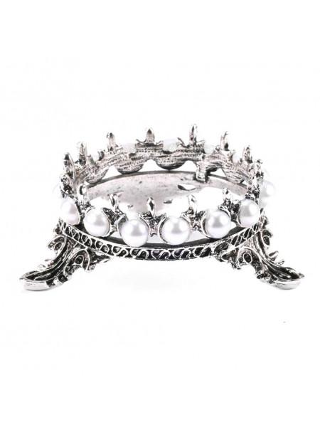 Подставка под кисти корона (чёрное серебро)