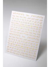 3D наклейки для дизайна ногтей №560 (золото)