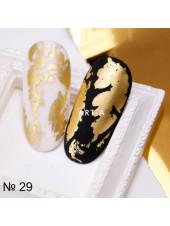 Фольга для дизайна ногтей золото благородное №29