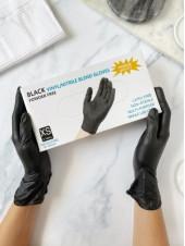 Перчатки черные Wally Plastic, XS 50 пар.
