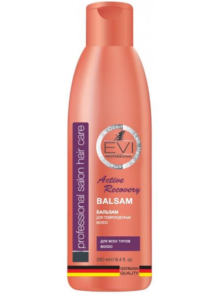 «EVI» Professional  Бальзам - ополаскиватель «Активное восстановление» для поврежден.  волос. 250мл.