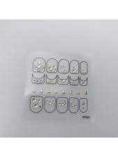 3D наклейки для дизайна ногтей №55
