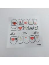 3D наклейки для дизайна ногтей №60