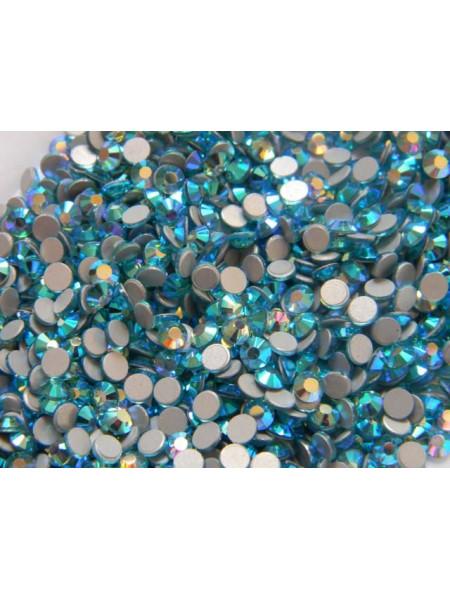 Стразы для ногтей AB (ГОЛОГРАФИК) Aquamarine ss6. Упаковка 1440 шт.