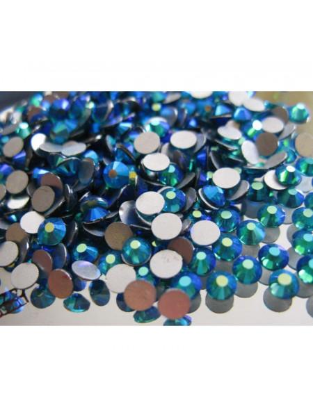 Стразы для ногтей AB (ГОЛОГРАФИК) BLUE ZIRCON ss4. Упаковка 1440 шт.