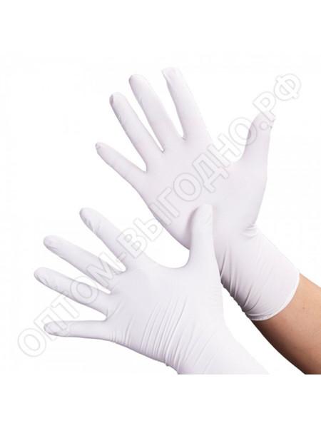 Перчатки нитриловые белые Nitrile, M 50 пар.