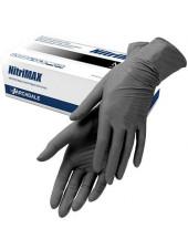 Перчатки нитриловые чёрные NitriMax, M 50 пар.