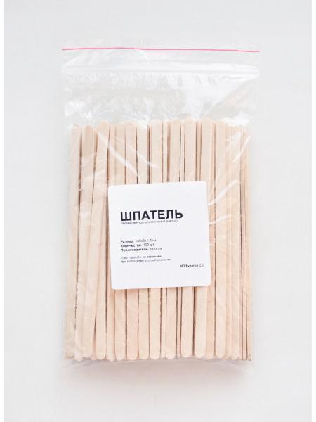 Шпатель деревянный косметологический 140х6х2,3мм, упаковка 100 штук
